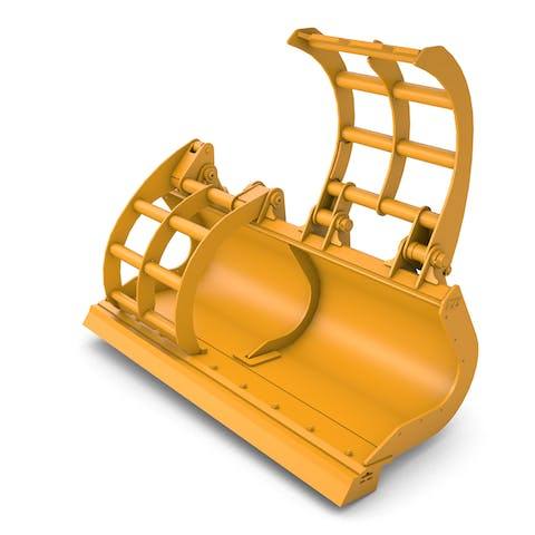Scrap Grapple Wheel Loader Bucket | ACS Industries